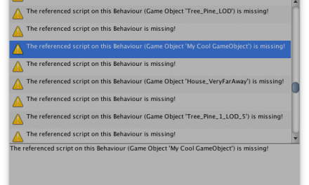 Cleaning Up Missing Scripts in Unity
